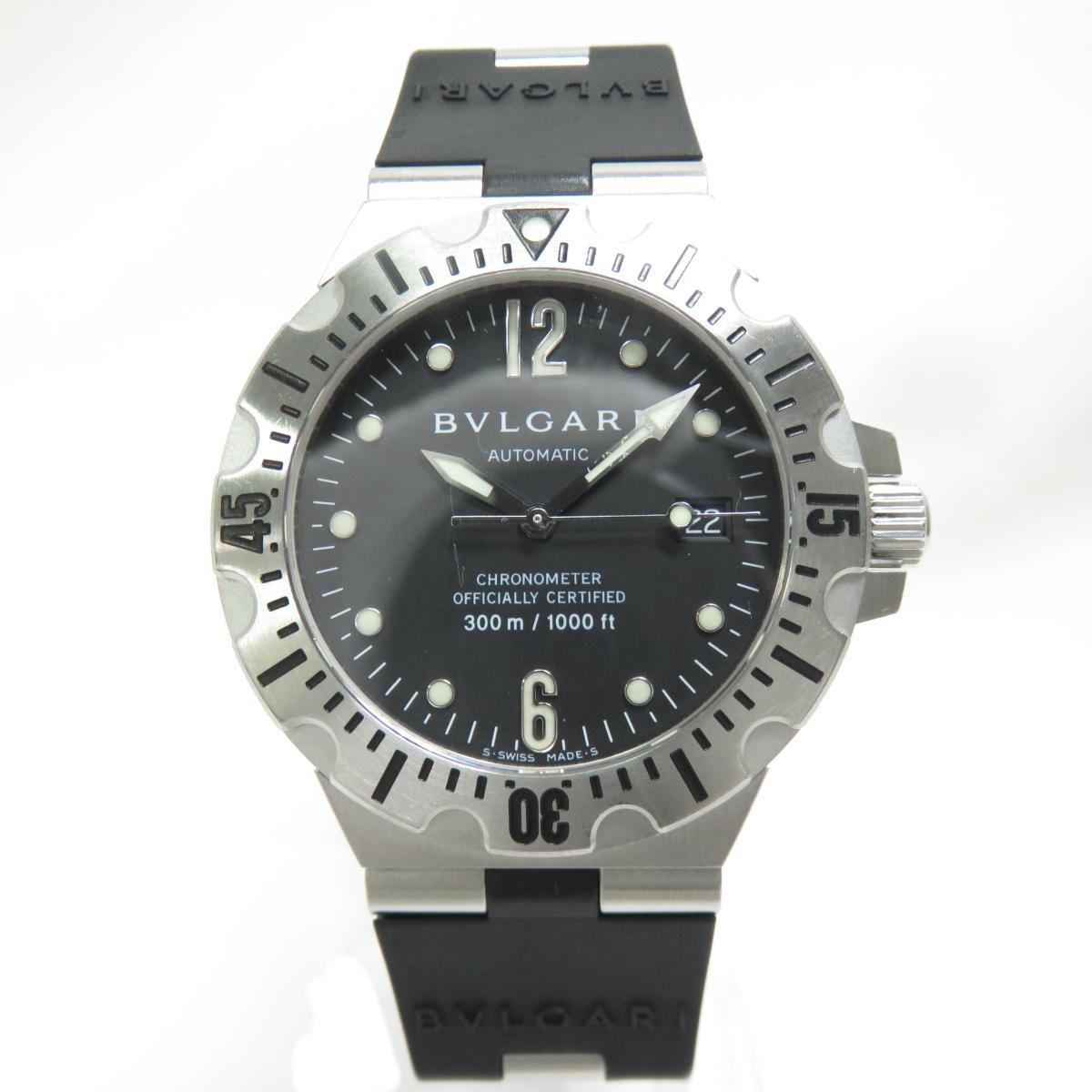【中古】 ブルガリ ディアゴノ プロフェッショナル ウォッチ 腕時計 メンズ ステンレススチール (SS)ラバーベルト ブラック (SD40S) | BVLGARI BRANDOFF ブランドオフ ブランド ブランド時計 ブランド腕時計 時計