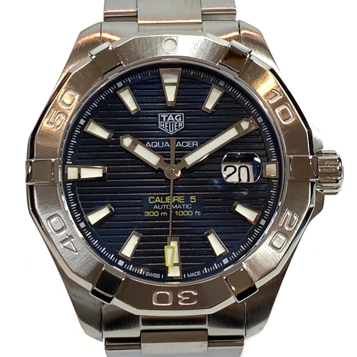【中古】 タグ・ホイヤー アクアレーサー 腕時計 ウォッチ メンズ ステンレススチール (SS) シルバー ブルー (WAY2012BA0927) | TAG HEUER BRANDOFF ブランドオフ ブランド ブランド時計 ブランド腕時計 時計