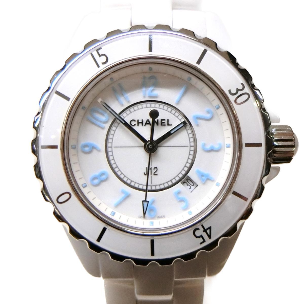 【中古】 シャネル J12・ブルーライト 腕時計 ウォッチ メンズ レディース セラミック (H3826) | CHANEL BRANDOFF ブランドオフ ブランド ブランド時計 ブランド腕時計 時計