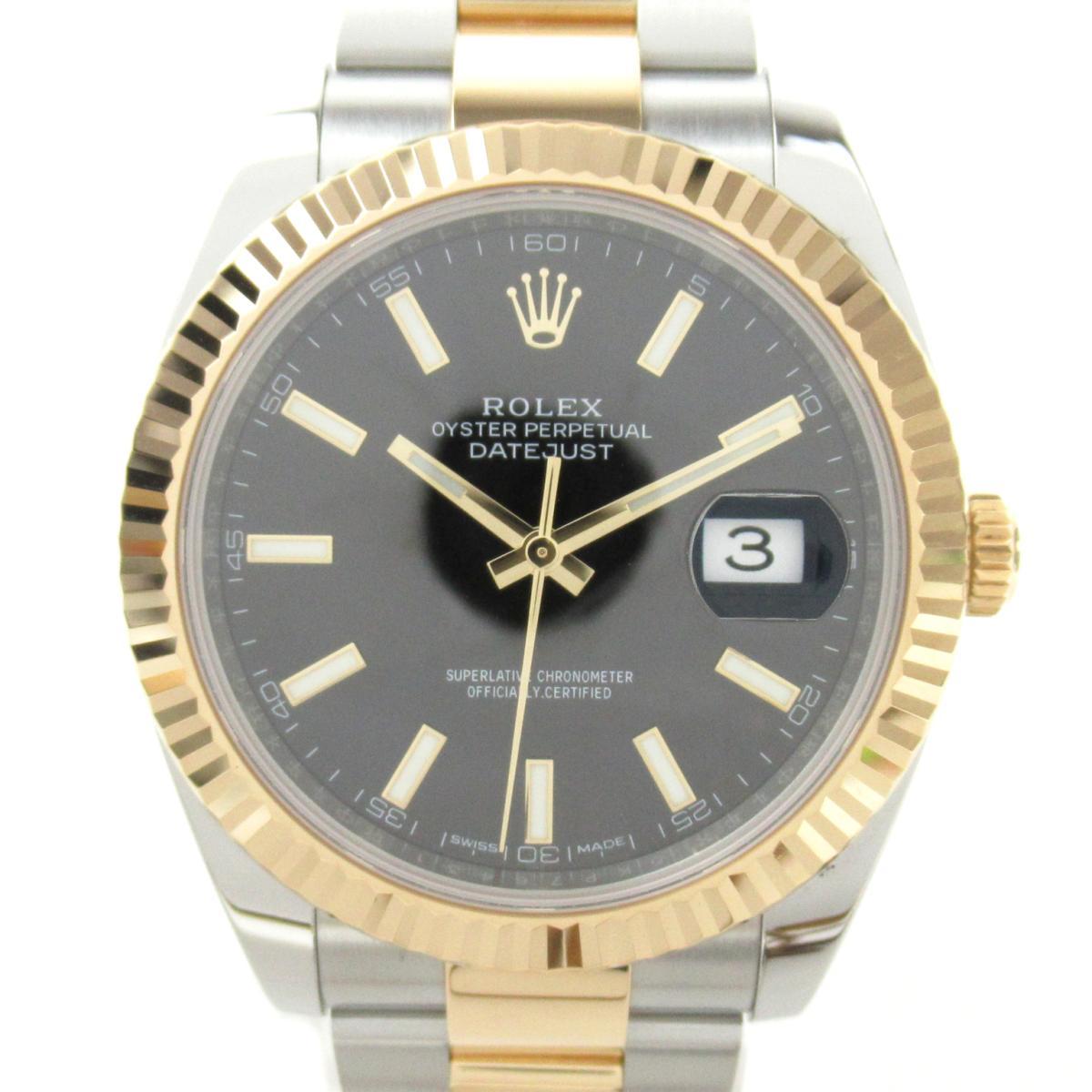 【中古】 ロレックス デイトジャスト ウォッチ 腕時計 メンズ K18YG (750)イエローゴールド ステンレススチール (SS) (126233 ランダム番) | ROLEX BRANDOFF ブランドオフ ブランド ブランド時計 ブランド腕時計 時計
