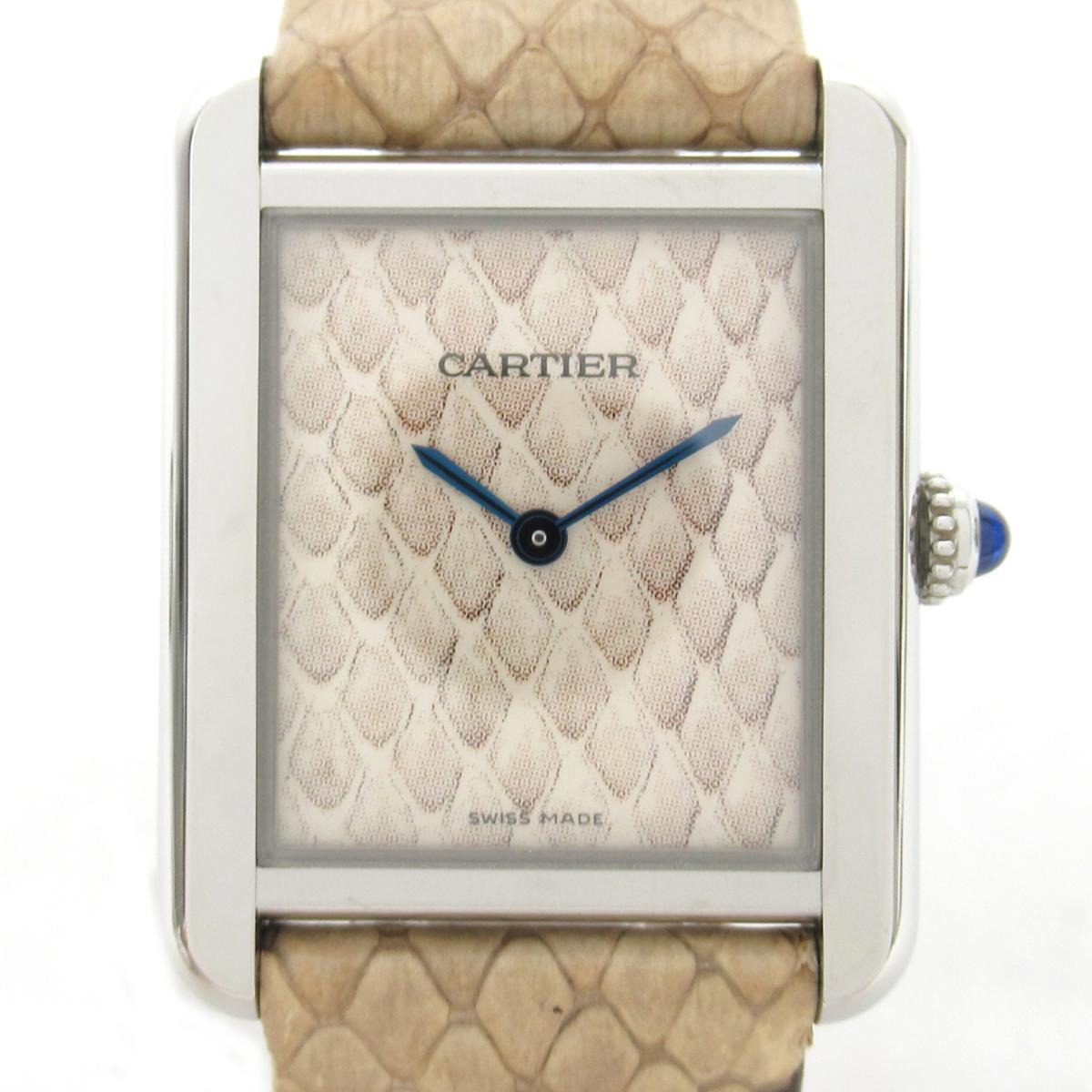 【中古】 カルティエ タンク・ソロSM ウォッチ 腕時計 レディース ステンレススチール (SS) レザーベルト | Cartier BRANDOFF ブランドオフ ブランド ブランド時計 ブランド腕時計 時計