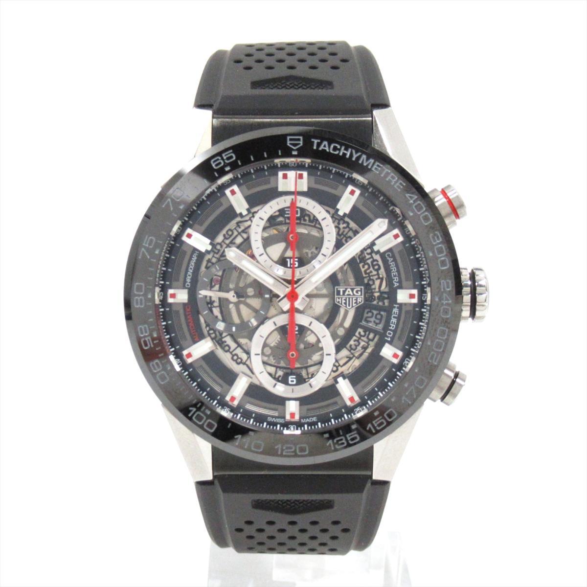 【中古】 タグ・ホイヤー カレラ キャリバー01 腕時計 ウォッチ メンズ ステンレススチール (SS)ラバーベルト (CAR201V) | TAG HEUER BRANDOFF ブランドオフ ブランド ブランド時計 ブランド腕時計 時計