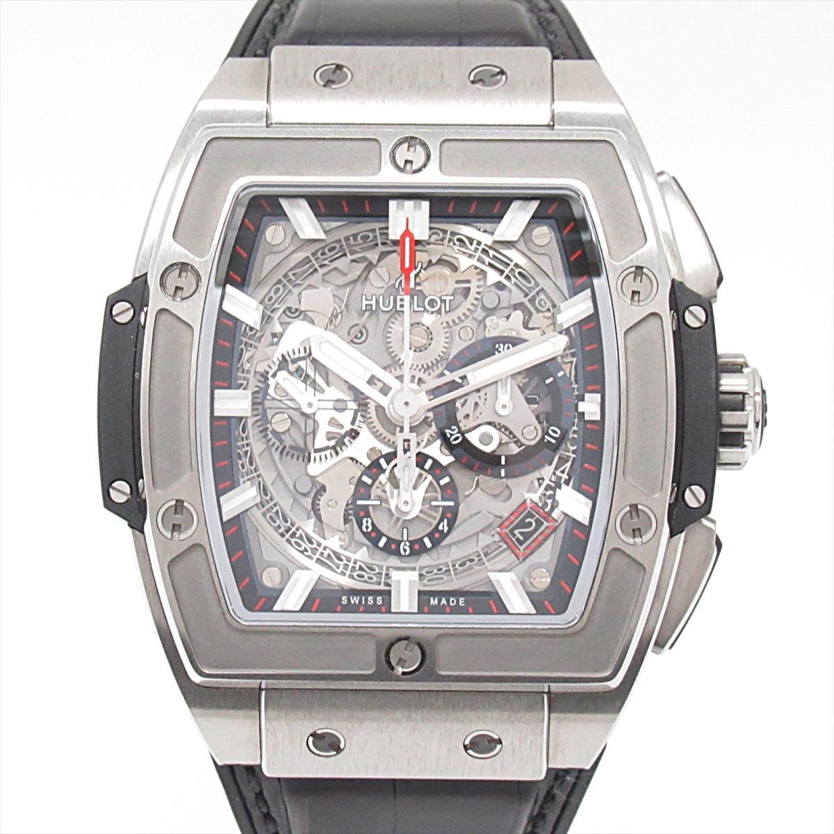 【中古】 ウブロ スピリット・オブ・ビッグバン 腕時計 ウォッチ メンズ チタン ラバーベルト (641.N .0173.LR) | HUBLOT BRANDOFF ブランドオフ ブランド ブランド時計 ブランド腕時計 時計