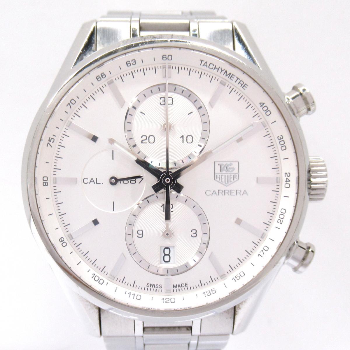 【中古】タグ・ホイヤー カレラ クロノグラフ 腕時計 ウォッチ メンズ ステンレススチール (SS) (RAR8190) | TAG HEUER BRANDOFF ブランドオフ ブランド ブランド時計 ブランド腕時計 時計