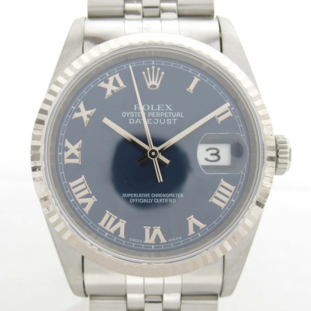 【中古】 ロレックス デイトジャスト ウォッチ 腕時計 メンズ K18WG (750)ホワイトゴールド x ステンレススチール (SS) (16234 T番) | ROLEX BRANDOFF ブランドオフ ブランド ブランド時計 ブランド腕時計 時計