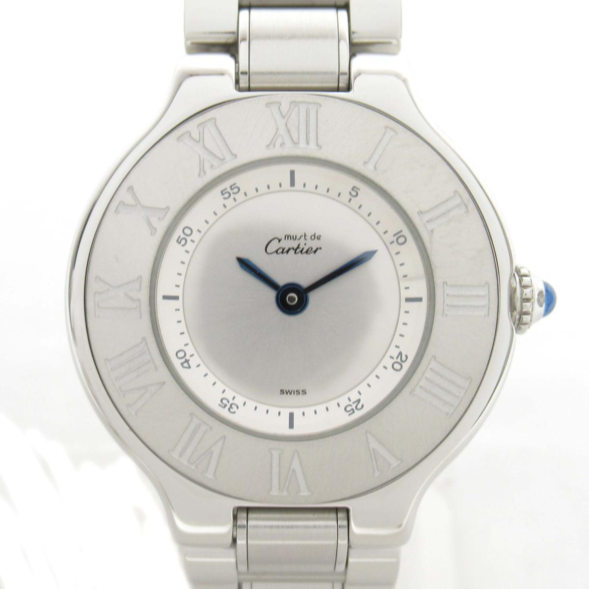 【中古】 カルティエ マスト21 ウォッチ 腕時計 レディース ステンレススチール (SS) | Cartier BRANDOFF ブランドオフ ブランド ブランド時計 ブランド腕時計 時計