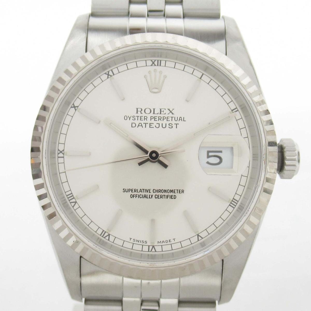 【中古】 ロレックス デイトジャスト ウォッチ 腕時計 メンズ 18Kホワイトゴールド x ステンレススチール (SS) (16234 U番) | ROLEX BRANDOFF ブランドオフ ブランド ブランド時計 ブランド腕時計 時計