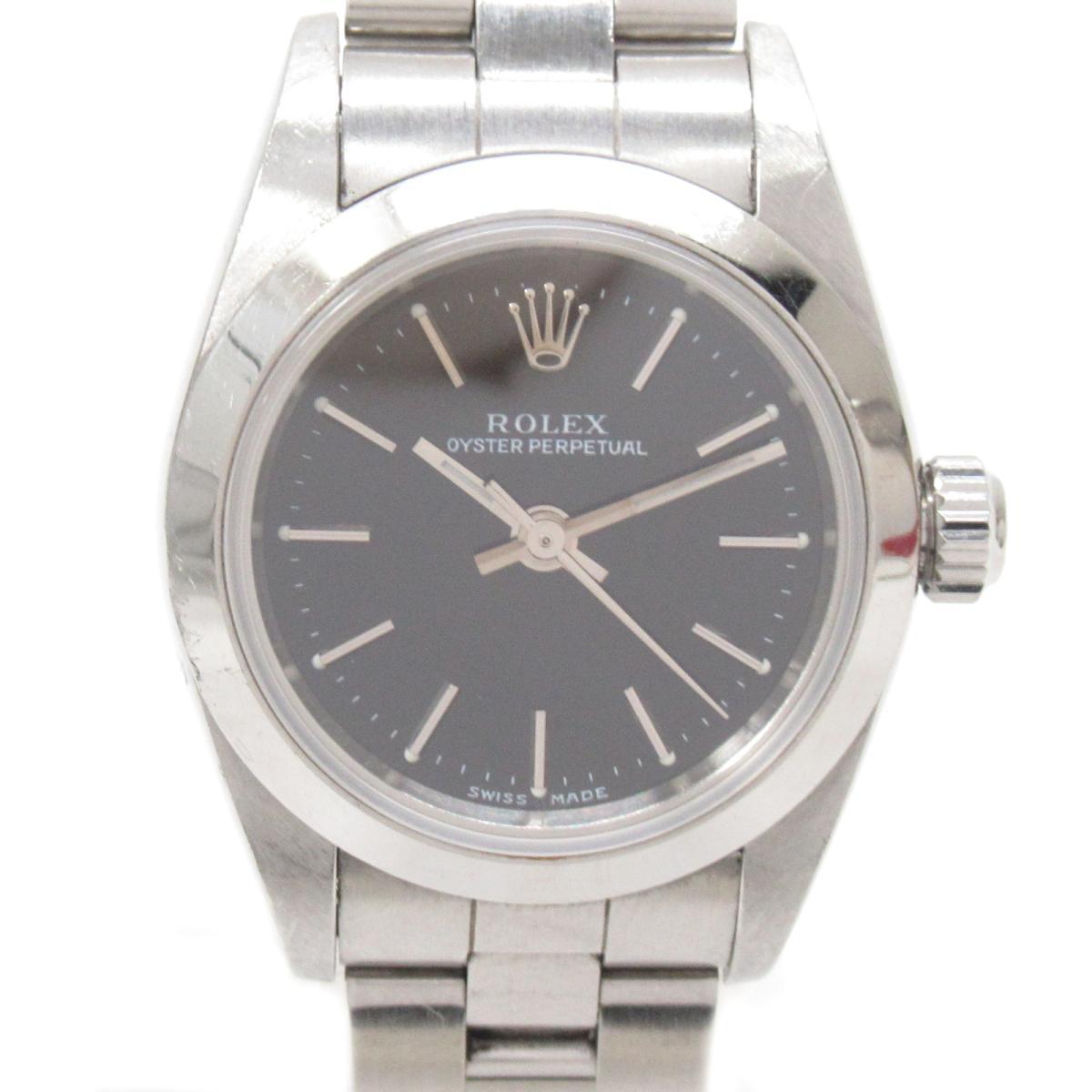 【中古】ロレックス オイスター パーペチュアル 腕時計 ウォッチ レディース ステンレススチール (SS) (76080) | ROLEX BRANDOFF ブランドオフ ブランド ブランド時計 ブランド腕時計 時計