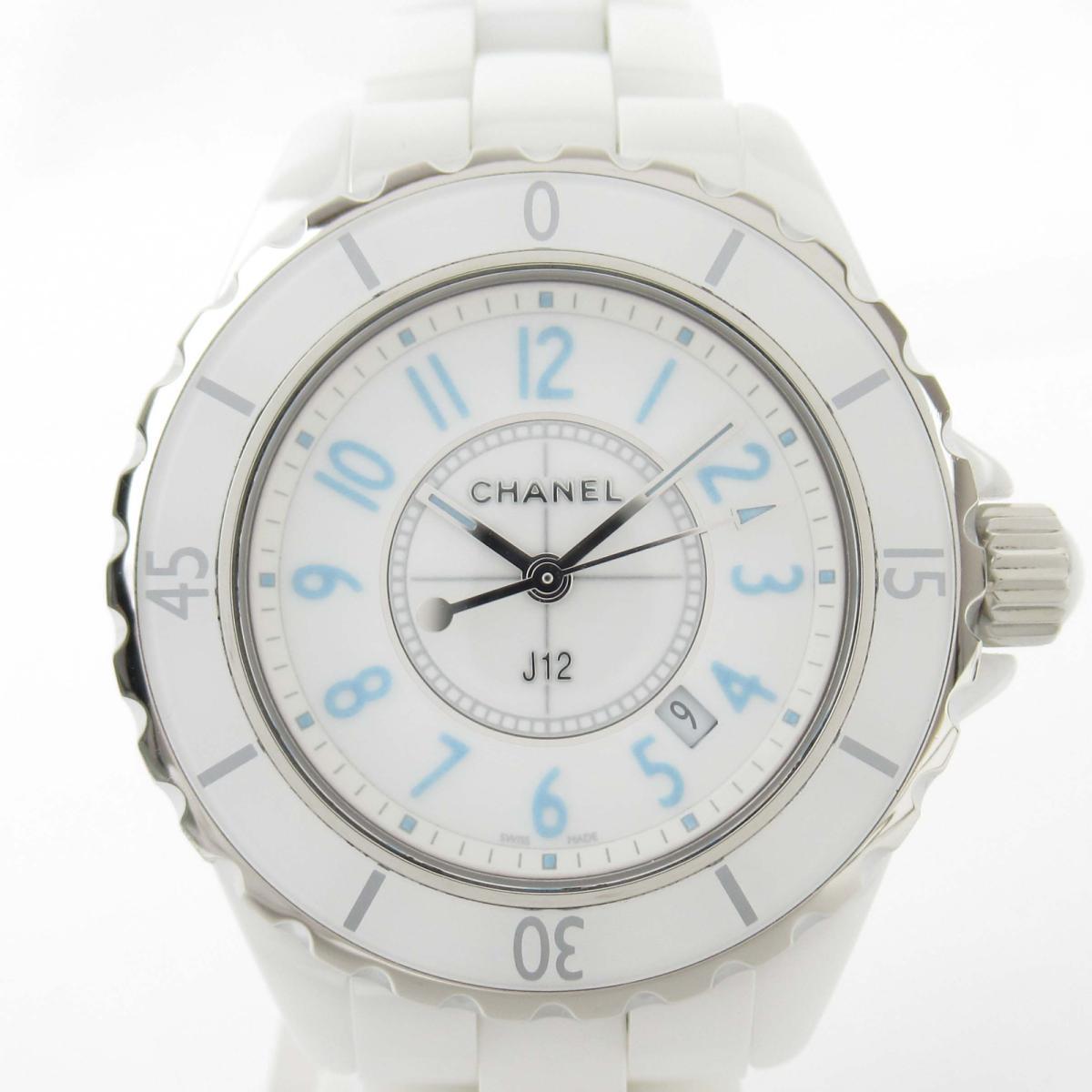 【中古】 シャネル J12 ブルーライト ウォッチ 腕時計 レディース セラミック (H3826) | CHANEL BRANDOFF ブランドオフ ブランド ブランド時計 ブランド腕時計 時計