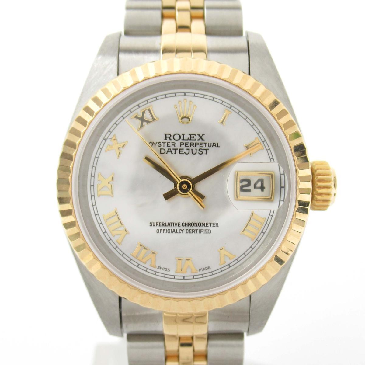 【中古】 ロレックス デイトジャスト ウォッチ 腕時計 レディース K18YG (750)イエローゴールド x ステンレススチール (SS) (69173NR U番) | ROLEX BRANDOFF ブランドオフ ブランド ブランド時計 ブランド腕時計 時計