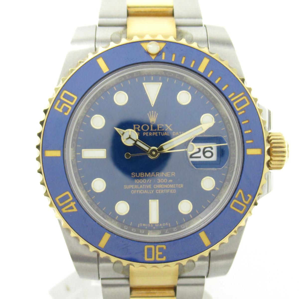 【中古】 ロレックス サブマリーナ ウォッチ 腕時計 メンズ K18YG (750)イエローゴールド x ステンレススチール (SS) (116613LB ランダム番) | ROLEX BRANDOFF ブランドオフ ブランド ブランド時計 ブランド腕時計 時計