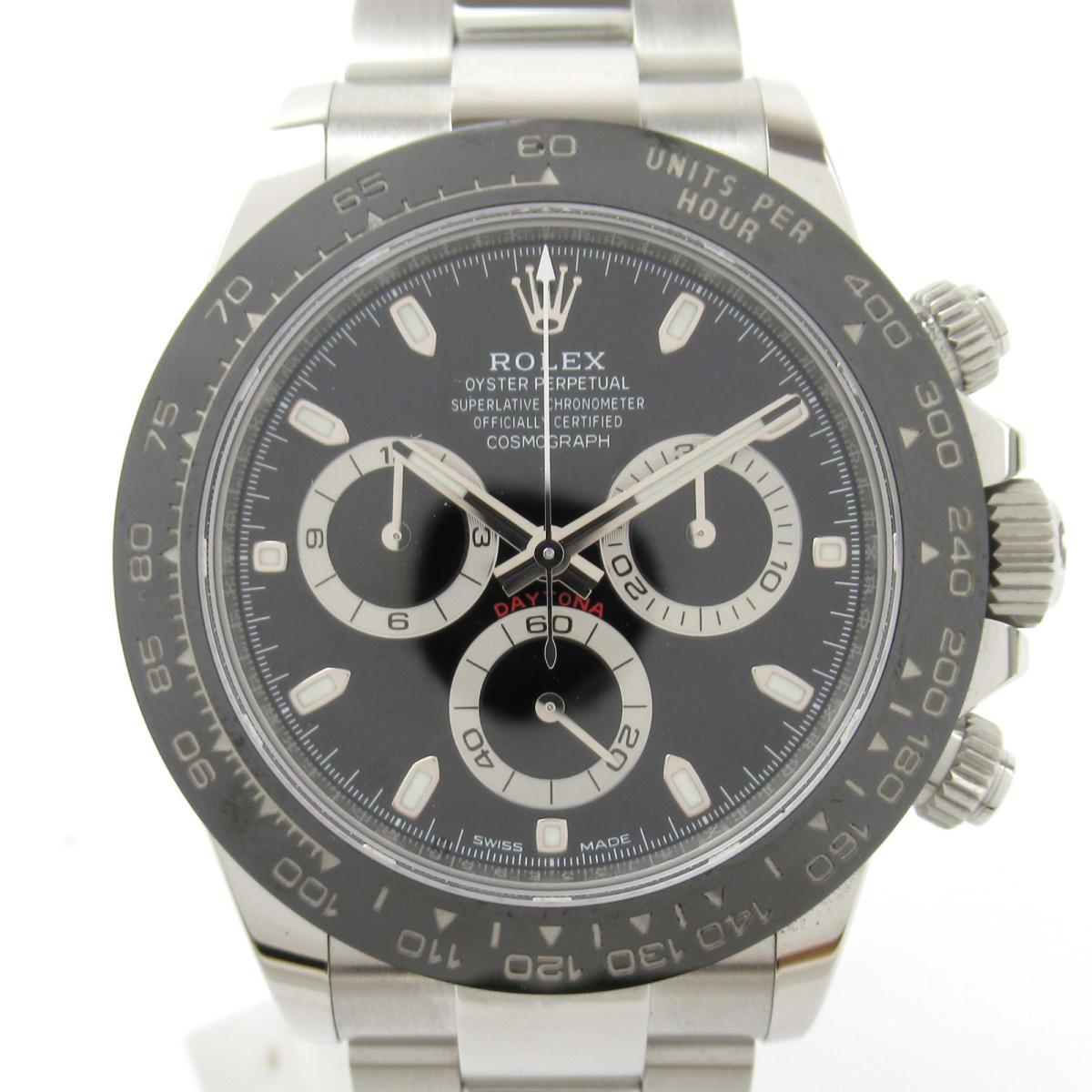 【中古】 ロレックス デイトナ ウォッチ 腕時計 メンズ ステンレススチール (SS) x セラクロム (116500LN ランダム番) | ROLEX BRANDOFF ブランドオフ ブランド ブランド時計 ブランド腕時計 時計