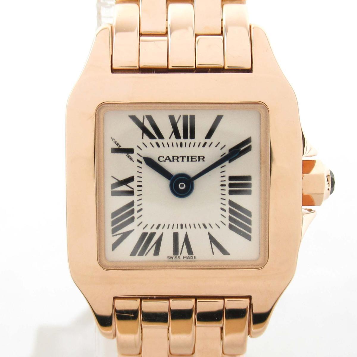 【中古】 カルティエ ミニ サントス ドゥモワゼル ウォッチ 腕時計 レディース K18PG (750)ピンクゴールド   Cartier BRANDOFF ブランドオフ ブランド ブランド時計 ブランド腕時計 時計