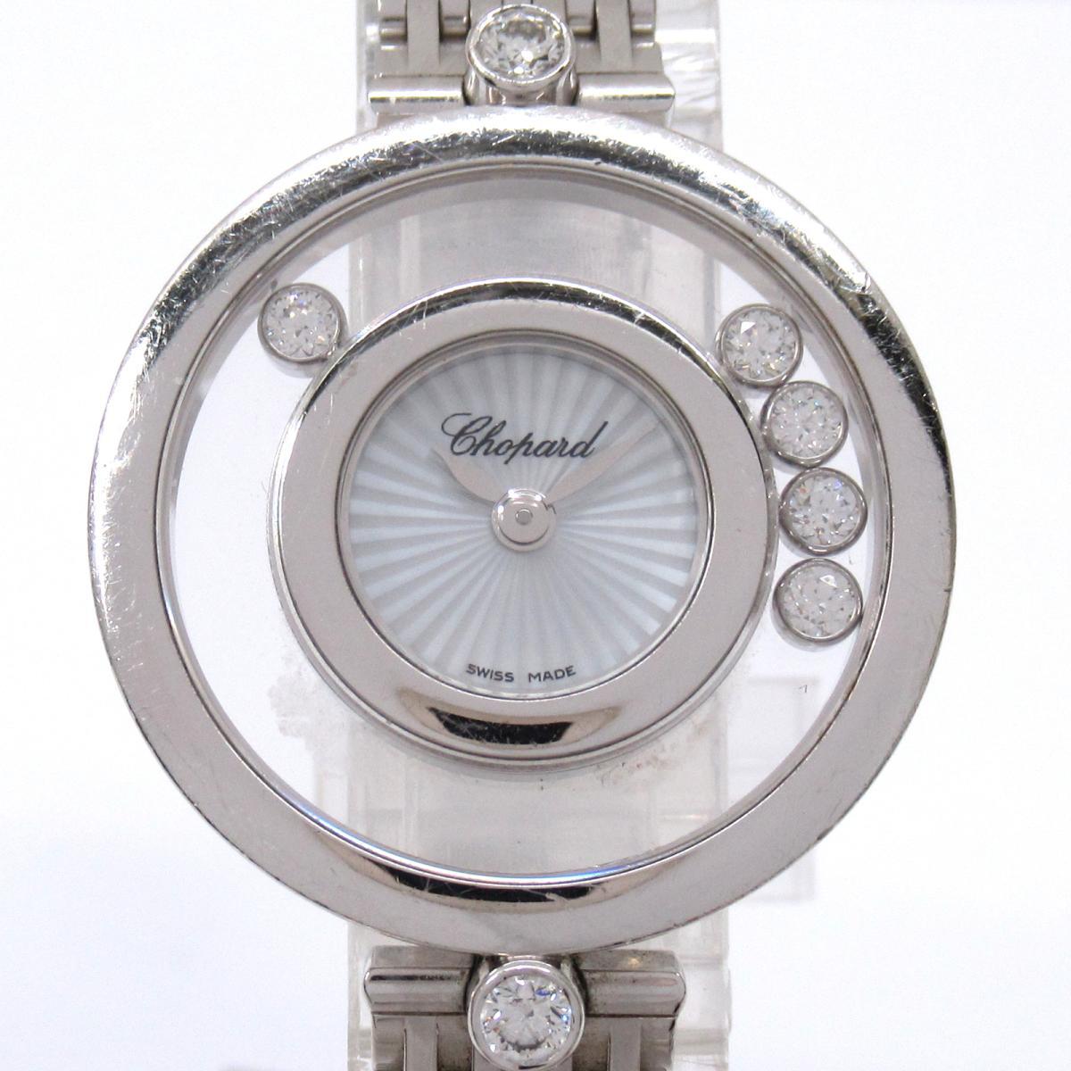 【中古】 ショパール ハッピーダイヤモンド 5Pダイヤ 腕時計 ウォッチ レディース K18WG (750)ホワイトゴールド (4527) | Chopard BRANDOFF ブランドオフ ブランド ブランド時計 ブランド腕時計 時計