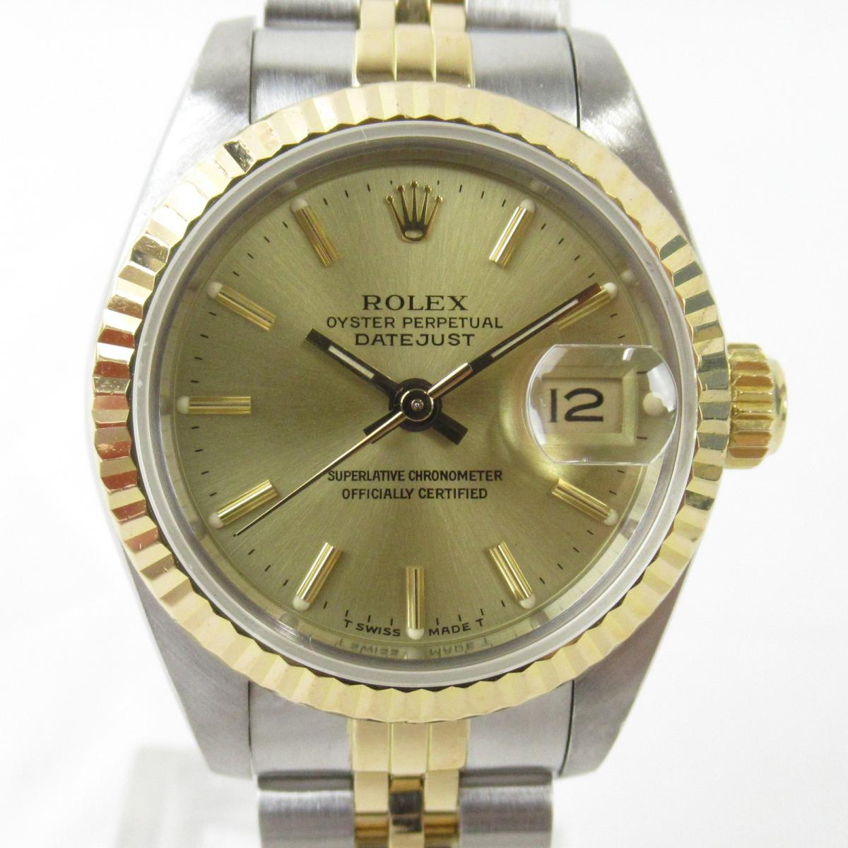 【中古】 ロレックス デイトジャスト 腕時計 ウォッチ レディース K18YG (750)イエローゴールド x ステンレススチール (SS) (69173 96番) | ROLEX BRANDOFF ブランドオフ ブランド ブランド時計 ブランド腕時計 時計