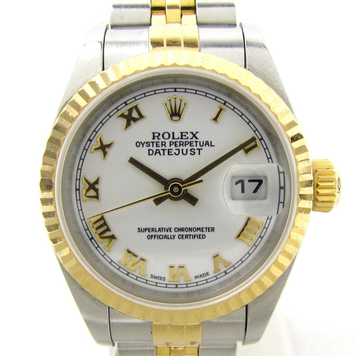 【中古】 ロレックス デイトジャスト ウォッチ 腕時計 レディース K18YG (750)イエローゴールド x ステンレススチール (SS) (79173 K番)   ROLEX BRANDOFF ブランドオフ ブランド ブランド時計 ブランド腕時計 時計