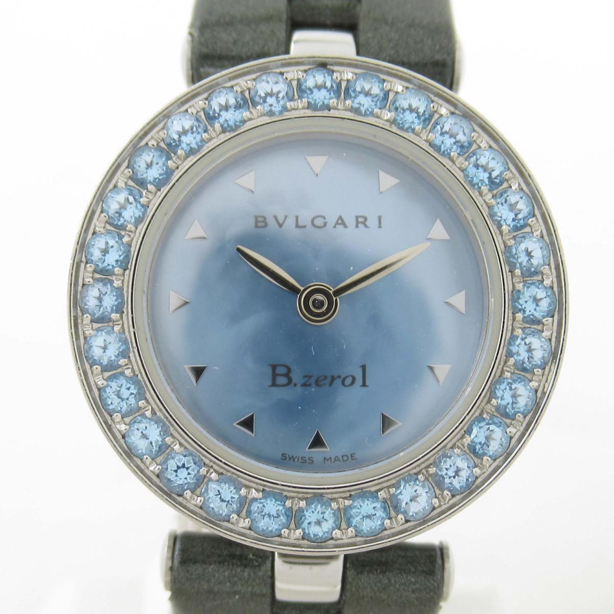 【中古】 ブルガリ B-zero1 ブルートパーズ ウォッチ 腕時計 レディース ステンレススチール (SS) x レザーベルト (BZ22S) | BVLGARI BRANDOFF ブランドオフ ブランド ブランド時計 ブランド腕時計 時計