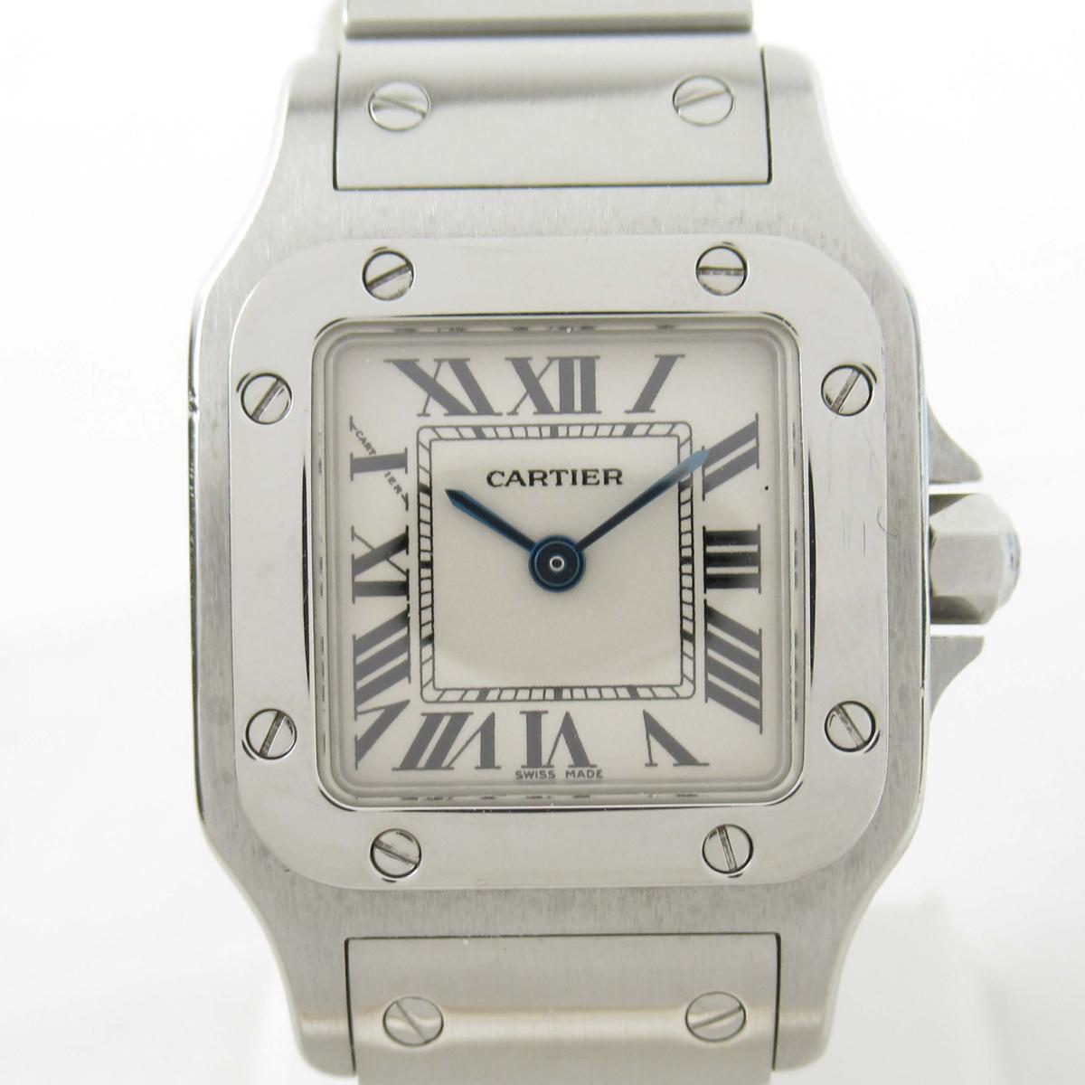 【中古】 カルティエ サントス ガルベSM ウォッチ 腕時計 レディース ステンレススチール (SS) (W20056D6) | Cartier BRANDOFF ブランドオフ ブランド ブランド時計 ブランド腕時計 時計