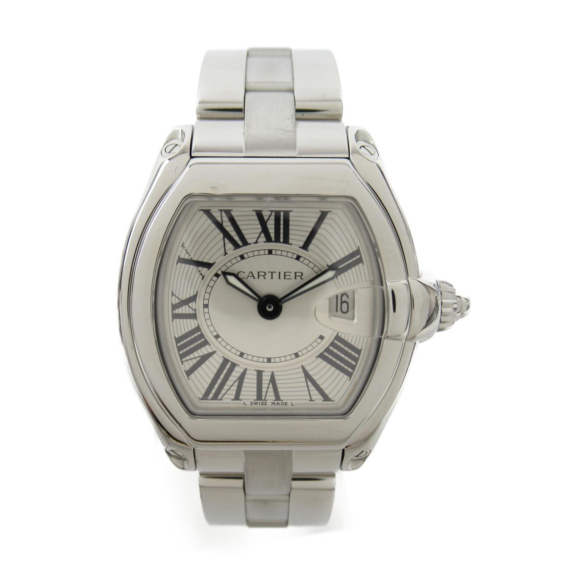 【中古】 カルティエ ロードスターSM ウォッチ 腕時計 レディース ステンレススチール (SS) (W62016V3) | Cartier BRANDOFF ブランドオフ ブランド ブランド時計 ブランド腕時計 時計