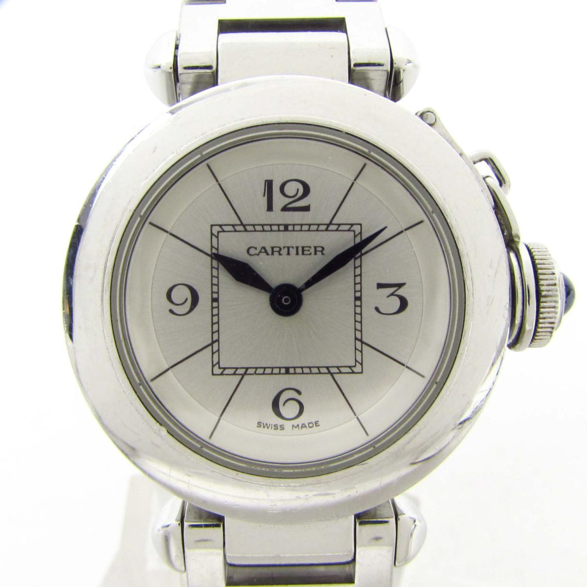 【中古】 カルティエ ミス パシャ ウォッチ 腕時計 レディース ステンレススチール (SS) (W3140007) | Cartier BRANDOFF ブランドオフ ブランド ブランド時計 ブランド腕時計 時計