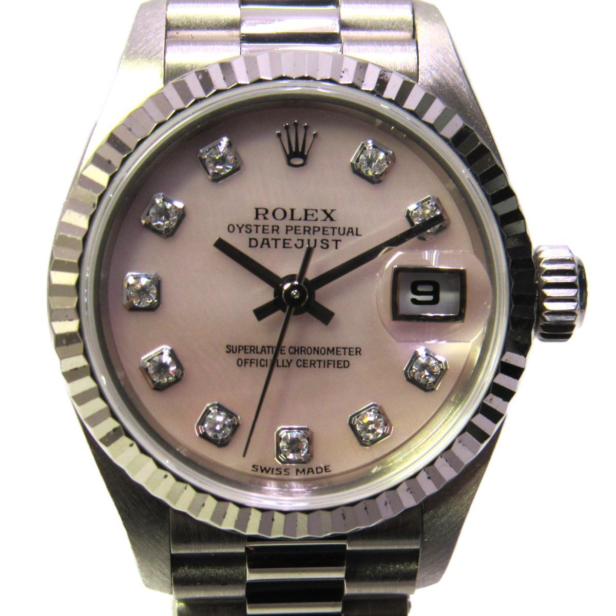 【中古】 ロレックス デイトジャスト 腕時計 ウォッチ レディース K18WG (750)ホワイトゴールド x 10P ダイヤモンド (79179NG) | ROLEX BRANDOFF ブランドオフ ブランド ブランド時計 ブランド腕時計 時計