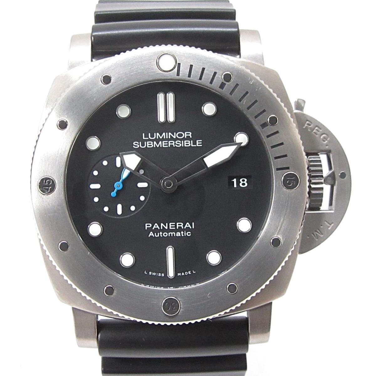 【中古】 パネライ サブマーシブル 3デイズ オートマティック チタニオ 腕時計 ウォッチ メンズ チタン x ラバーベルト (PAM01305) | PANERAI BRANDOFF ブランドオフ ブランド ブランド時計 ブランド腕時計 時計
