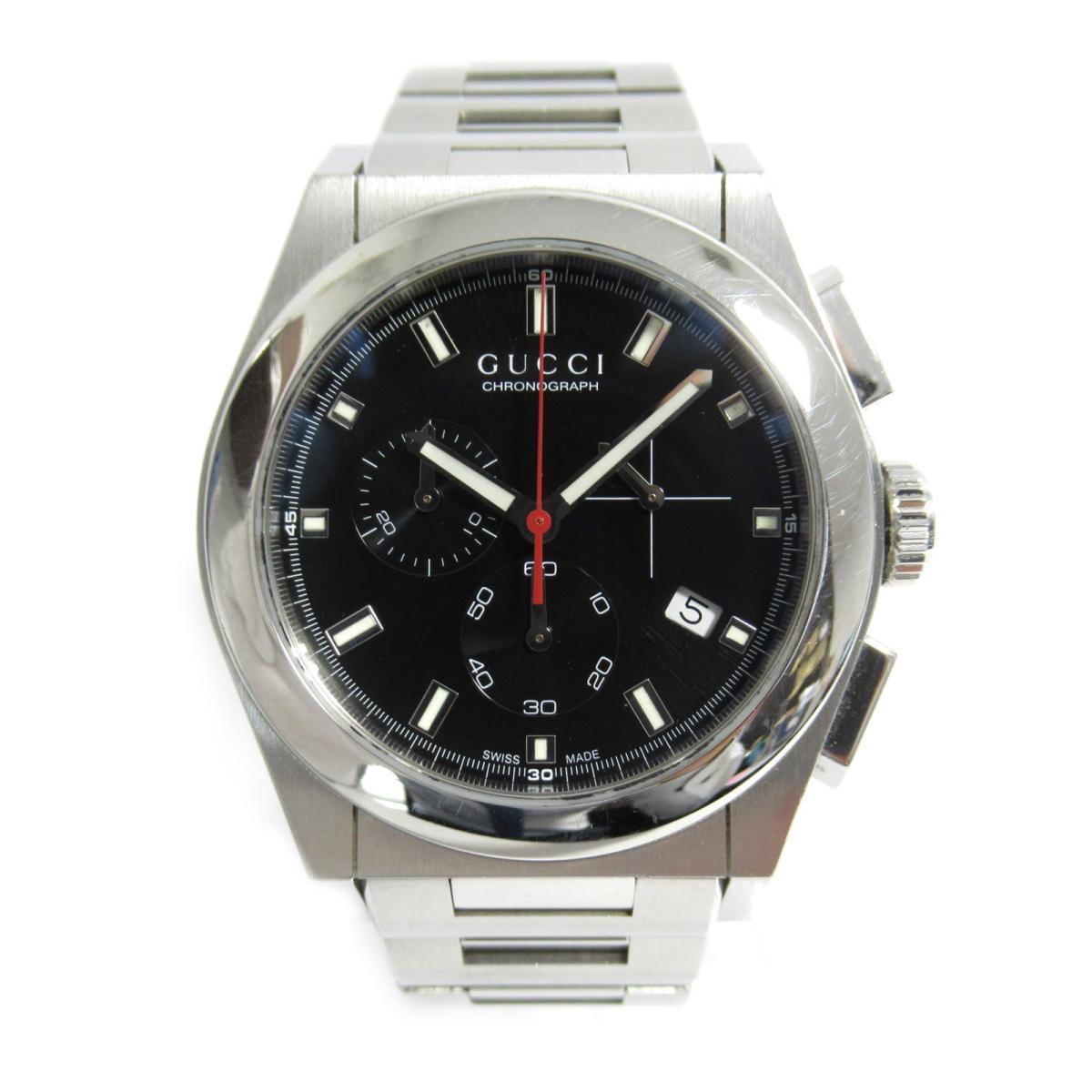 【中古】 グッチ パンテオン クロノグラフ 腕時計 ウォッチ メンズ ステンレススチール (SS) (115.2) | GUCCI BRANDOFF ブランドオフ ブランド ブランド時計 ブランド腕時計 時計