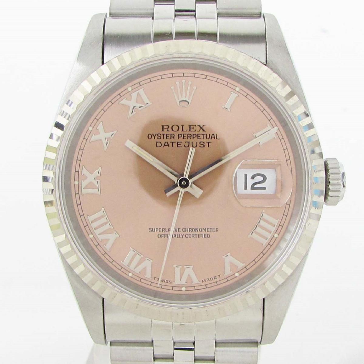 【中古】 ロレックス デイトジャスト ウォッチ 腕時計 メンズ 18Kホワイトゴールド x ステンレススチール (SS) (16234 S番) | ROLEX BRANDOFF ブランドオフ ブランド ブランド時計 ブランド腕時計 時計