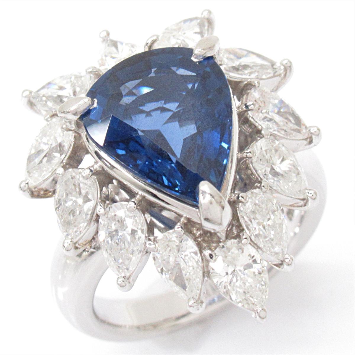 100%の保証 【】ジュエリー【】ジュエリー サファイアリング 指輪 PT900 レディース 指輪 PT900 プラチナxサファイア(5.24ct)xダイヤモンド(2.87ct), ナガイシ:0b8d61ca --- scrabblewordsfinder.net
