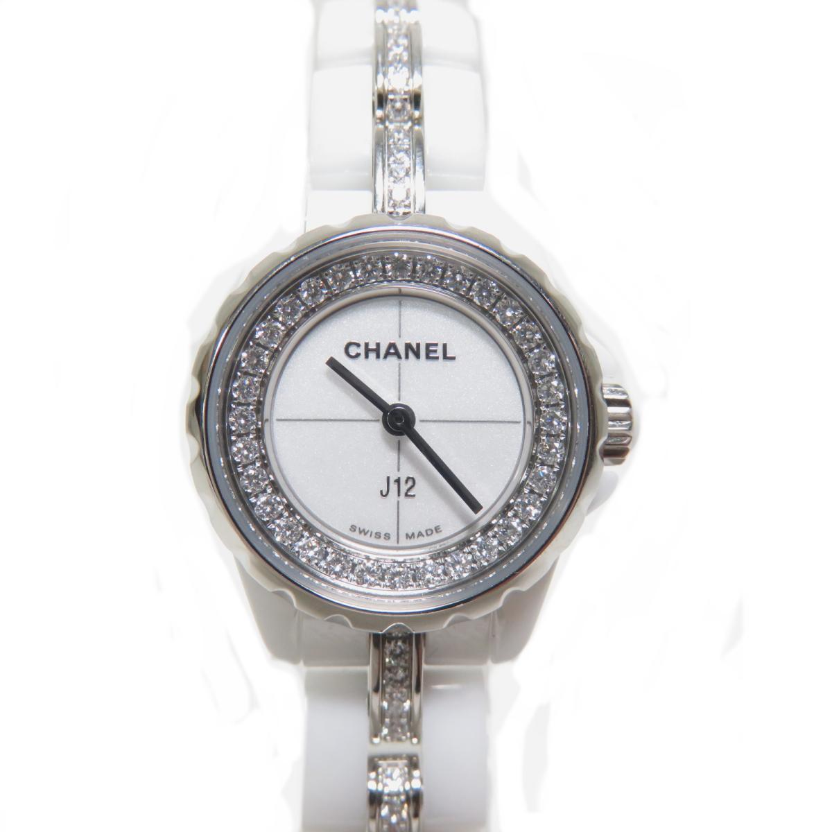【中古】 シャネル J12 x S ベゼルダイヤ 時計 ウォッチ レディース ステンレススチール (SS) セラミック ダイヤ (H5238)   CHANEL BRANDOFF ブランドオフ ブランド ブランド時計 ブランド腕時計 腕時計