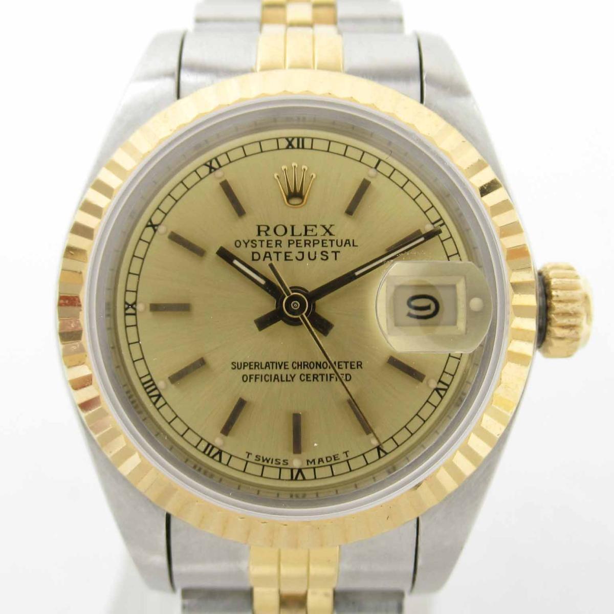 【中古】 ロレックス デイトジャスト ウォッチ 腕時計 レディース K18イエローゴールド x ステンレススチール (SS) (69173 R番) | ROLEX BRANDOFF ブランドオフ ブランド ブランド時計 ブランド腕時計 時計