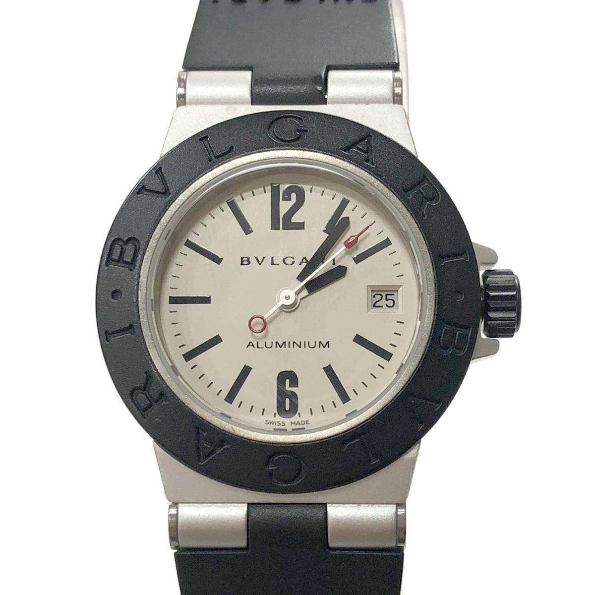 【中古】ブルガリ アルミニウム ウォッチ 腕時計 レディース ラバー x ブラック (AL29TA) | BVLGARI BRANDOFF ブランドオフ ブランド ブランド時計 ブランド腕時計 時計