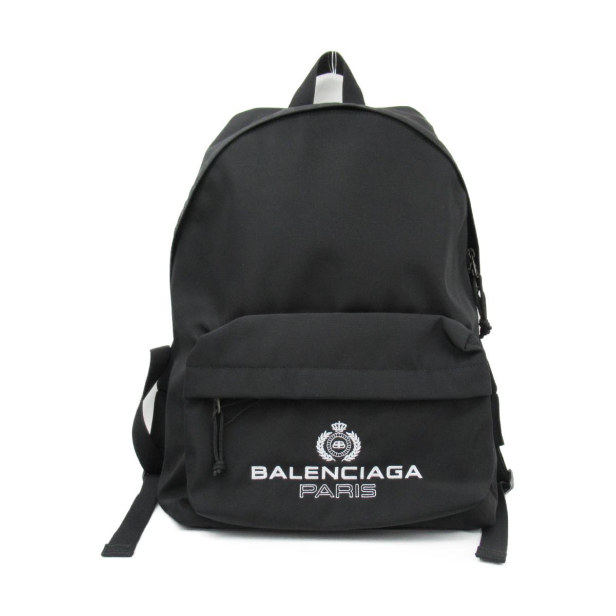 【中古】バレンシアガ ロゴリュックサック バックパック メンズ ナイロン ノアール | BALENCIAGA BRANDOFF ブランドオフ レディース ブランド ブランドバッグ ブランドバック かばん バッグ バック リュック リュックサック