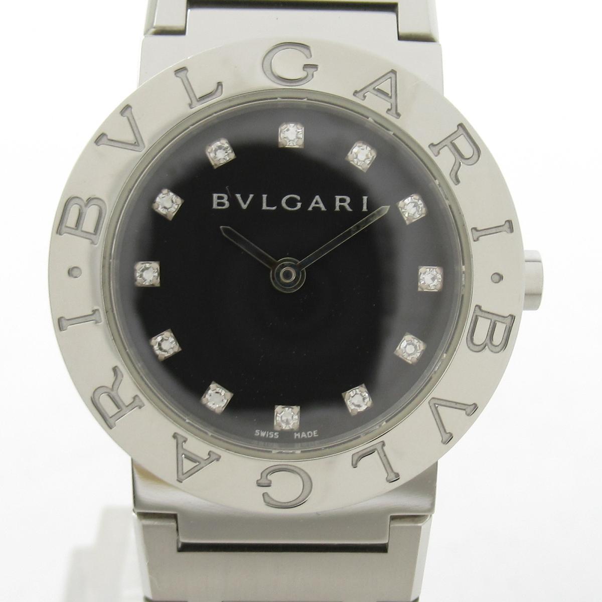 【中古】 ブルガリ ウォッチ 腕時計 レディース ステンレススチール'(SS) x ダイヤモンド (BB26SS)   BVLGARI BRANDOFF ブランドオフ ブランド ブランド時計 ブランド腕時計 時計