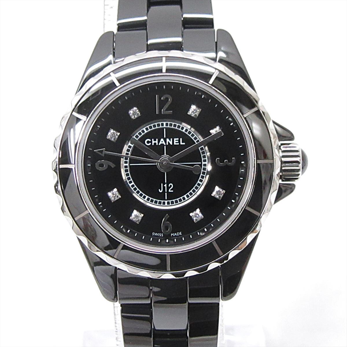 【中古】シャネル J12 腕時計 ウォッチ レディース セラミック x ダイヤモンド (8P) (H2569)   CHANEL BRANDOFF ブランドオフ ブランド ブランド時計 ブランド腕時計 時計
