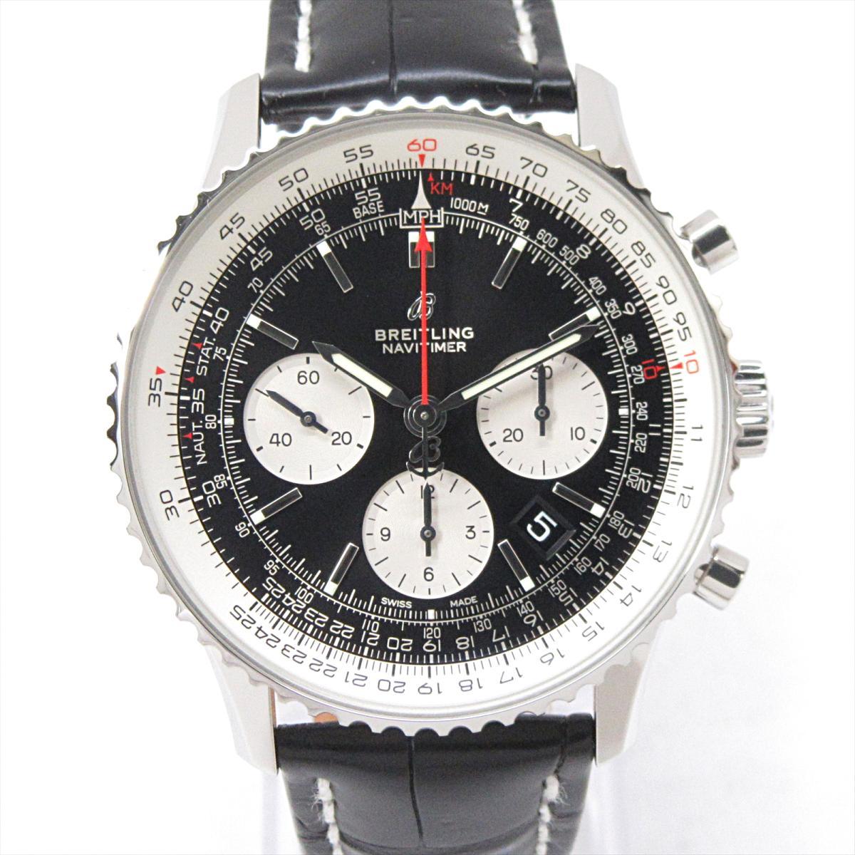 【中古】ブライトリング ナビタイマー1 腕時計 ウォッチ メンズ ステンレススチール (SS) x レザーベルト (クロコ) (AB0121211B1P1) | BREITLING BRANDOFF ブランドオフ ブランド ブランド時計 ブランド腕時計 時計