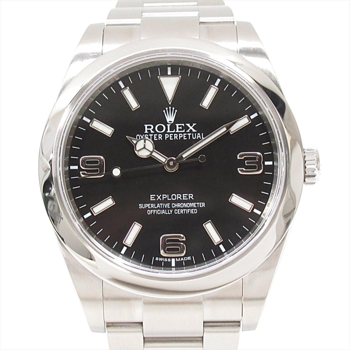 【中古】ロレックス エクスプローラー1 腕時計 ウォッチ メンズ ステンレススチール (SS) (214270) | ROLEX BRANDOFF ブランドオフ ブランド ブランド時計 ブランド腕時計 時計