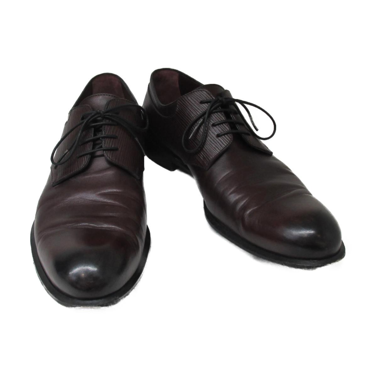 【中古】ルイヴィトン メンズシューズ 靴 メンズ 牛革 (カーフ) x エピ ブラウン | LOUIS VUITTON BRANDOFF ブランドオフ ヴィトン ビトン ルイ・ヴィトン ブランド シューズ クツ