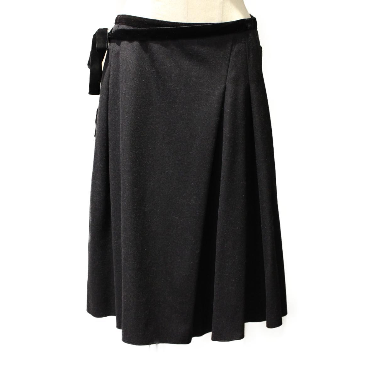 【中古】フォクシー ベロアスカート レディース 毛90% x ナイロン7% ポリウレタン3% ブラック (19473-ASAY04) | FOXEY BRANDOFF ブランドオフ 衣料品 衣類 ブランド ボトムス スカート