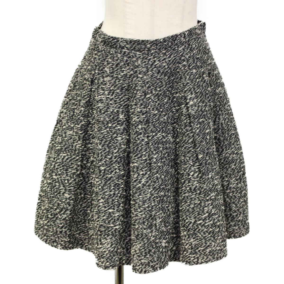 【中古】クリスチャン・ディオール ツイード フレア スカート レディース コットン ナイロン ブラック x ホワイト (3C21338M1311) | Dior BRANDOFF ブランドオフ 衣料品 衣類 ブランド ボトムス
