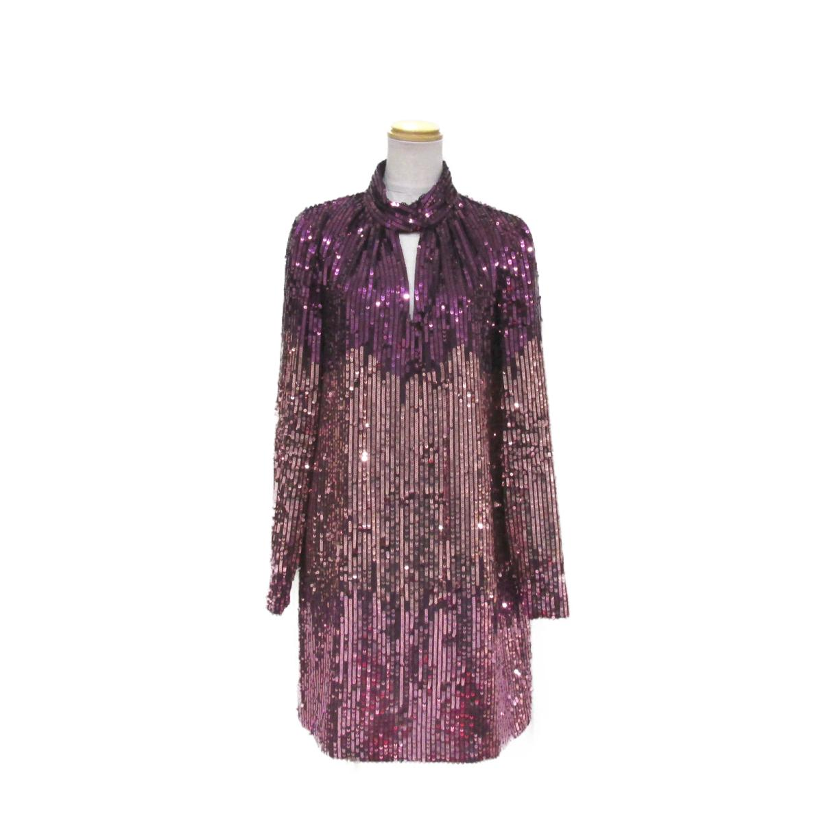 【中古】ケイトスペード ワンピース レディース ピリエステル100% パープル x ピンク   kate spade BRANDOFF ブランドオフ 衣料品 衣類 ブランド
