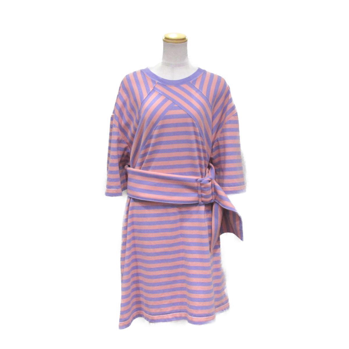 【中古】マーク・ジェイコブス ワンピース ベルト付き レディース コットン100% ピンク x パープル   MARC JACOBS BRANDOFF ブランドオフ 衣料品 衣類 ブランド