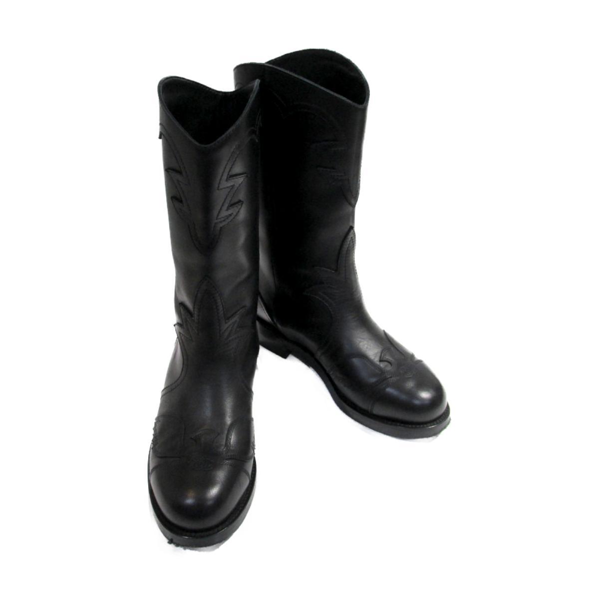【中古】シャネル ブーツ レディース レザー ブラック | CHANEL BRANDOFF ブランドオフ ブランド 靴 シューズ クツ