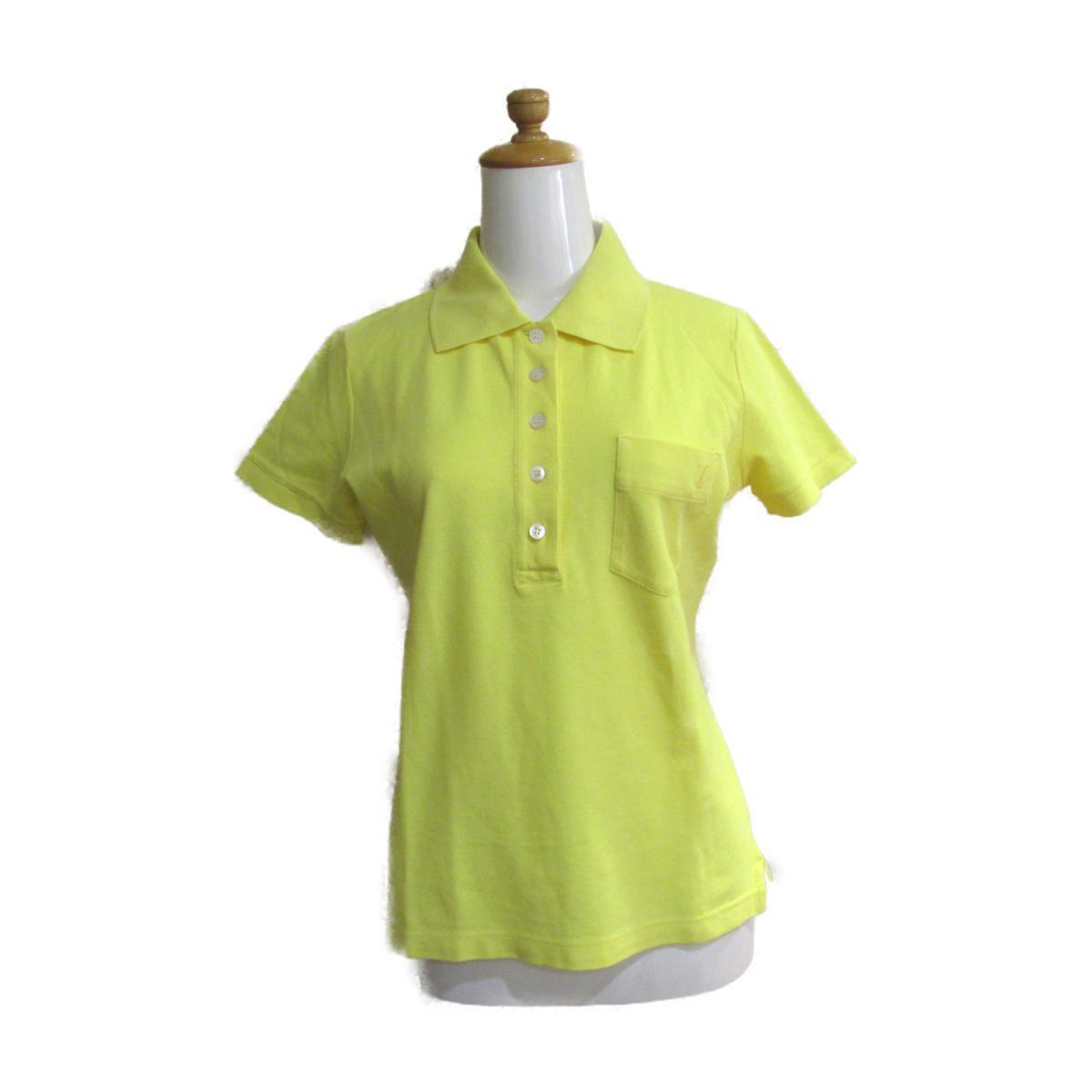 【中古】ルイヴィトン ポロシャツ レディース コットン イエロー | CHANEL BRANDOFF ブランドオフ 衣料品 衣類 ブランド