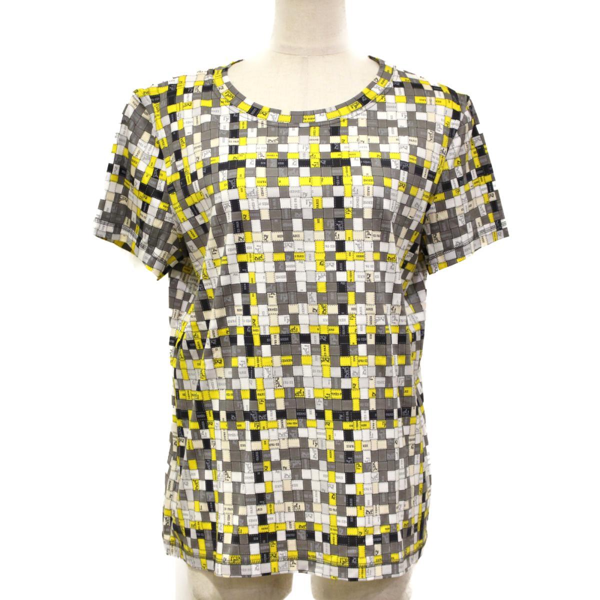 【中古】エルメス Tシャツ レディース コットン イエロー グレー ホワイト | ALEXANDER WANG BRANDOFF ブランドオフ 衣料品 衣類 ブランド トップス シャツ カットソー