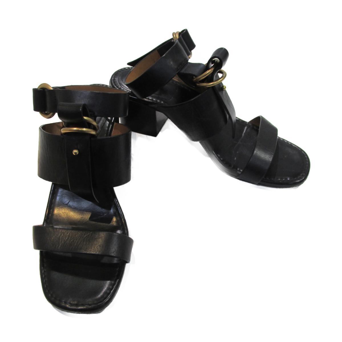 【中古】 クロエ サンダル レディース レザー ブラック | Chloe BRANDOFF ブランドオフ ブランド 靴 シューズ クツ