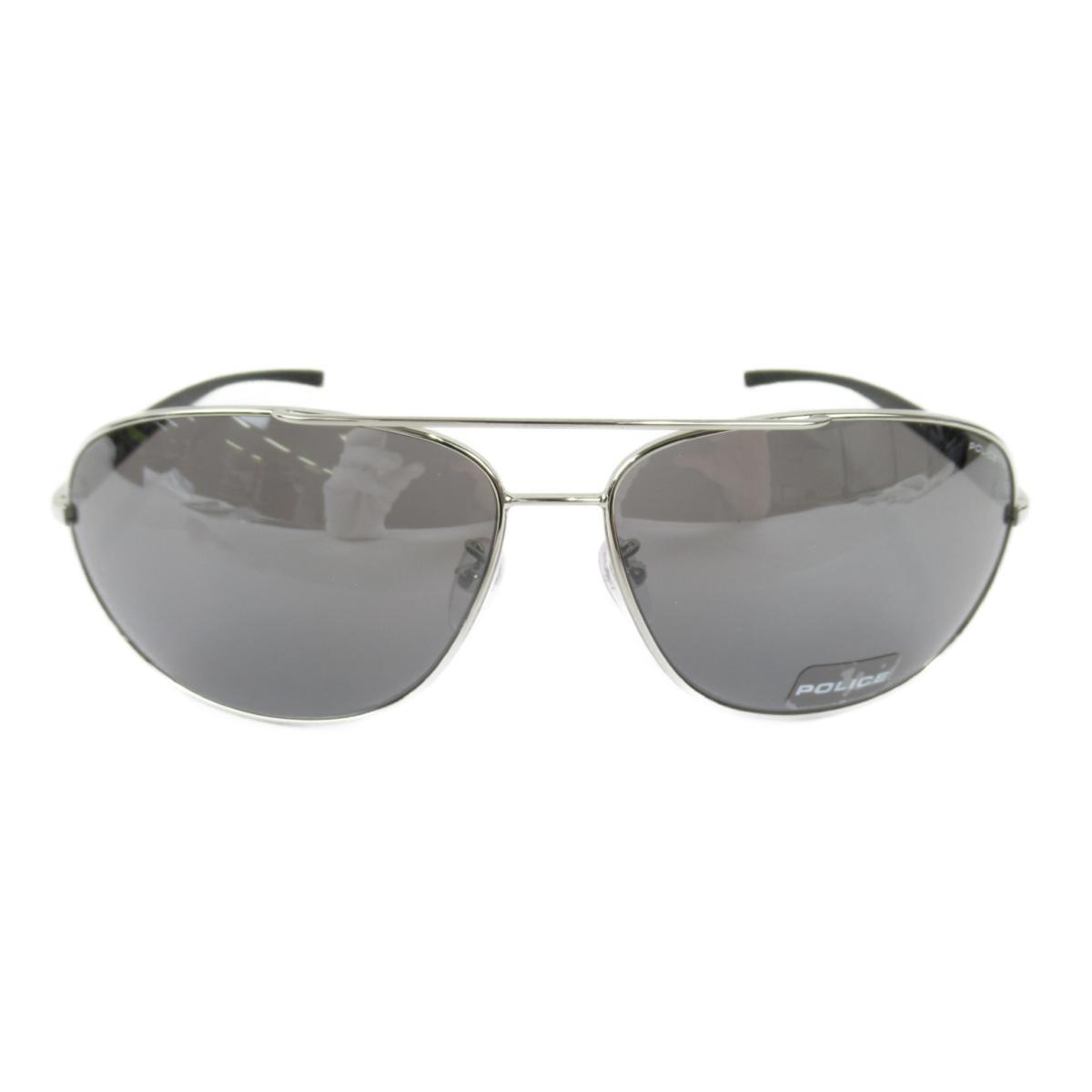 ポリス サングラス メンズ レンズ:プラスチック/テンプル・フレーム:ニッケル合金 ブラック x シルバー (8182G 579S 67ロ14-130) | POLICE BRANDOFF ブランドオフ ブランド ブランド雑貨 小物 雑貨 眼鏡 メガネ めがね
