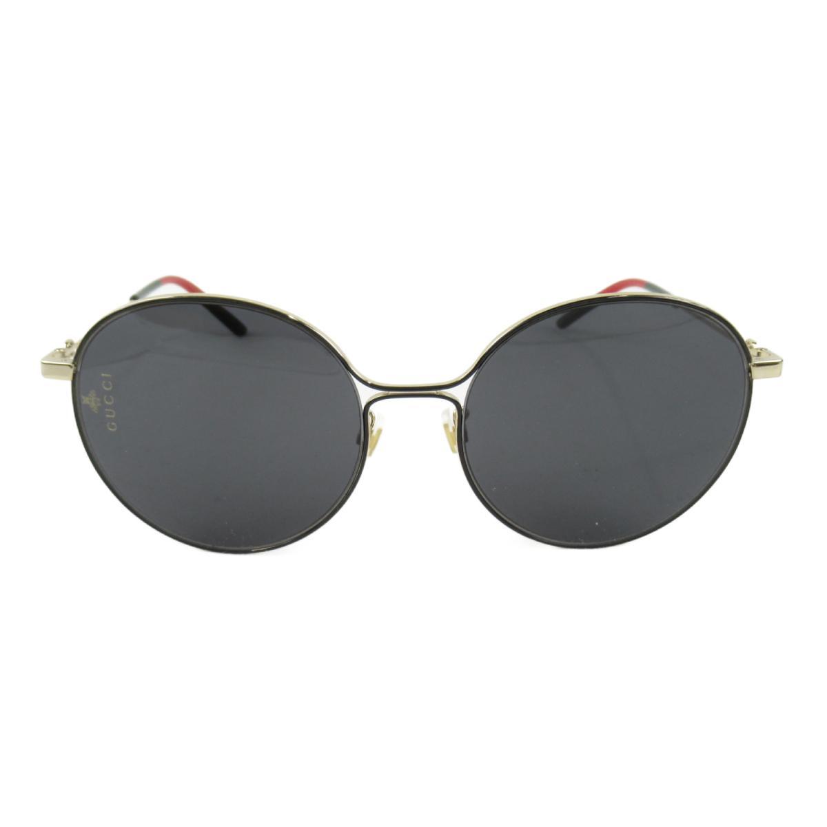 グッチ サングラス メンズ レディース レンズ・フレーム:プラスチック/テンプル:ニッケル合金 ブラック x ゴールド (0395SK 1 56ロ19-145) | GUCCI BRANDOFF ブランドオフ ブランド ブランド雑貨 小物 雑貨 眼鏡 メガネ めがね