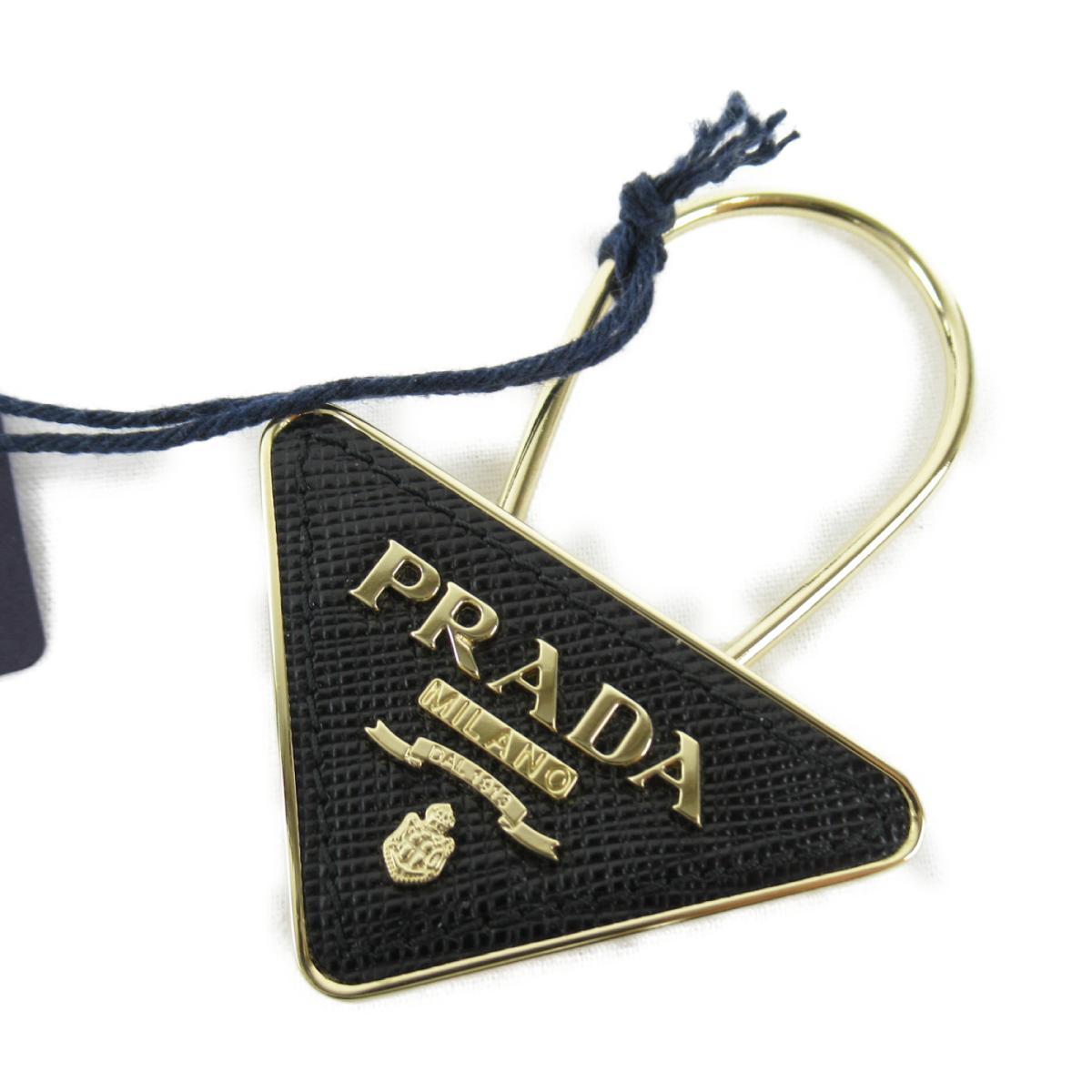 プラダ SLG サフィアーノ キーホルダー メンズ レディース メタル x サフィアーノレザー ブラック (1PP301053F0002)   PRADA BRANDOFF ブランドオフ ブランド ブランド雑貨 小物 雑貨 キーケース