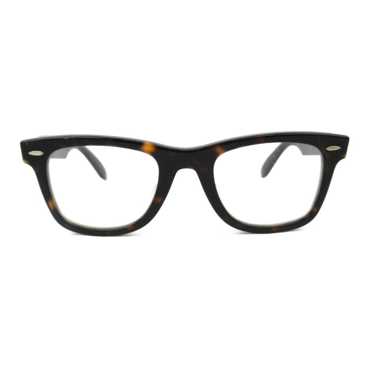 レイバン オプチカル フレーム サングラス ウェリントン メンズ レディース フレーム/テンプル:アセテート ブラック x グレー ブラウン (5121F 2012 (50) ロ220) | Ray Ban BRANDOFF ブランドオフ ブランド ブランド雑貨 小物 雑貨 眼鏡 メガネ めがね